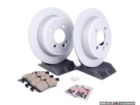 ES#2597279 - 34111502891KT18 - Rear Brake Service Kit - Featuring Zimmerman rotors and Akebono pads - Assembled By ECS - MINI