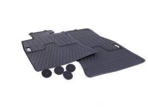 ES#2523823 - 51472243906 - MINI Emblem Logo Front Rubber Factory Floor Mats Set - Priced As Set - Replace or upgrade to factory MINI mats - Genuine MINI - MINI