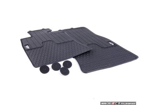 ES#2523823 - 51472243906 - MINI Emblem Logo Front Rubber Factory Floor Mats Set - Priced As Set - Replace or upgrade to factory MINI mats - Genuine MINI - MINI