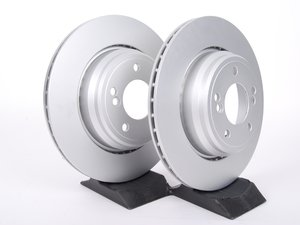 ES#2597851 - 34212229379kt2 - Rear Brake Rotors - Pair (328x20) - Featuring a protective Meyle Platinum coating. - Meyle - BMW