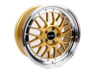 "ES#2695514 - 881-10KT2 - 18"" Style 881 Wheels - Set Of Four - 18""x8.5"" ET35 66.6CB 5x112 Gold with machined finish - Alzor - Audi MINI"