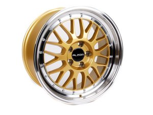 "ES#2695422 - 881-10 - 18"" Style 881 Wheels - Set Of Four - 18""x8.5"" ET35 5x112 - Gold with 2"" Machined Lip - Alzor - Audi BMW Volkswagen"