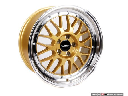 """ES#2695514 - 881-10KT2 - 18"""" Style 881 Wheels - Set Of Four - 18""""x8.5"""" ET35 66.6CB 5x112 Gold with machined finish - Alzor - Audi MINI"""