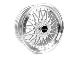 "ES#2695746 - 010-23STGMK5 - 18"" Style 010 Wheels - Staggered Set Of Four - 18""x8"" ET33 / 18""x9"" ET30 5x112 - Silver with machined lip - Alzor - Audi Volkswagen"