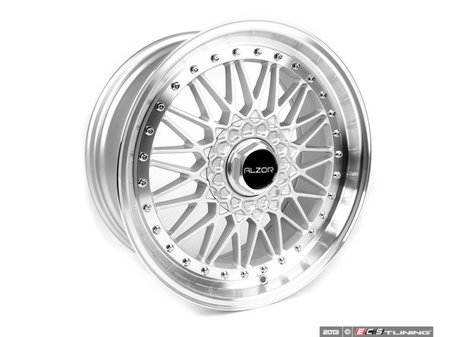 "ES#2695704 - 010-23MK5 - 18"" Style 010 Wheels - Set Of Four - 18""x8"" ET33 5x112 - Silver with 2"" Machined Lip - Alzor - Audi Volkswagen"