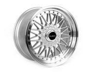 "ES#2777334 - 010-24KT - 18"" Style 010 Wheels - Set Of Four - 18x9"" ET30 66.6CB 5x112. Silver with machined lip. - Alzor - Audi"