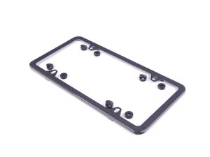 ES#2136330 - 82112210415 - Carbon Fiber Slim Line Plate Frame  - Made of real carbon fiber - Genuine BMW - BMW