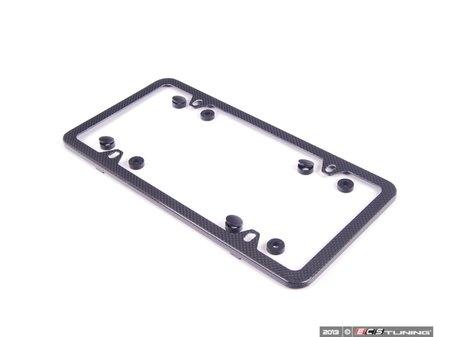 ES#2136330 - 82112210415 - Carbon Fiber Slim Line Plate Frame  - Made of real carbon fiber - Genuine BMW - BMW