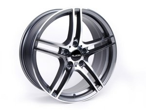 "ES#2535847 - 730-2KT - 19"" Style 730 Wheels - Square Set Of Four - 19x9"" ET35 72.6CB 5x120. Gunmetal with machined face. - Alzor - BMW"