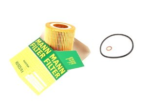 ES#7028 - 11427512300 - Oil Filter Kit - Includes filter, O-ring, and copper washer. - Mann - BMW