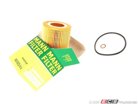ES#7028 - 11427512300 - OEM Oil Filter - E36 E46 E39 E60 X3 X5 Z3 Z4 - M52 M54 engine - Includes filter, O-ring, and copper washer. - Mann - BMW