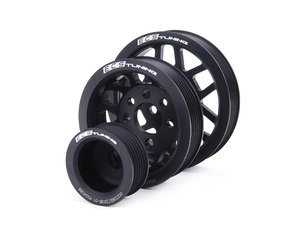 ES#420 - MK44CPK - Lightweight Underdrive Pulley Set - Black - Includes a new alternator, power steering and crank pulley that allows you to use a stock belt. - ECS - Audi Volkswagen