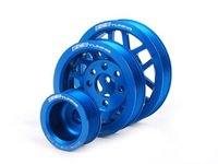 ES#3568 - MK44CPK BLUE - Lightweight Underdrive Pulley Set - Blue Anodized - Includes a new alternator, power steering and crank pulley that allows you to use a stock belt. - ECS - Audi Volkswagen