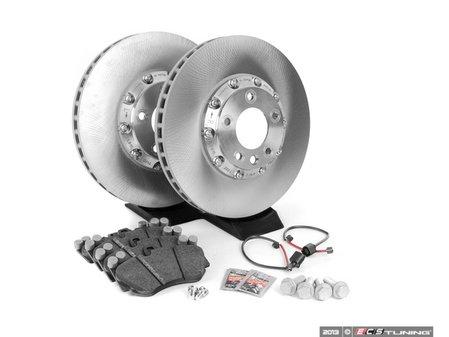 ES#2602377 - 95535140161FOKT1 - Front Brake Service Kit - Featuring genuine Porsche rotors and Textar brake pads - Assembled By ECS - Porsche