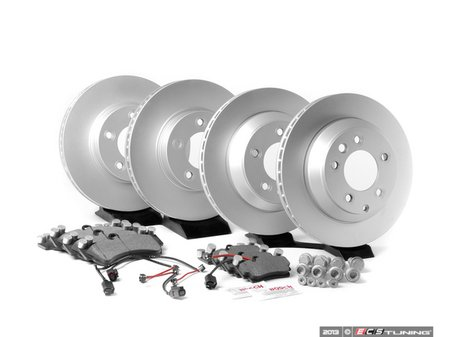ES#2602248 - 95535140141OEKT - Front & Rear Brake Service Kit - Featuring Meyle rotors and Bosch QuietCast brake pads - Assembled By ECS - Porsche