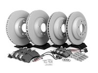 ES#2602308 - 95535140151PEKT - Performance Front & Rear Brake Service Kit - Featuring Zimmerman Z-Coated rotors and Hawk HPS brake pads - Assembled By ECS - Porsche