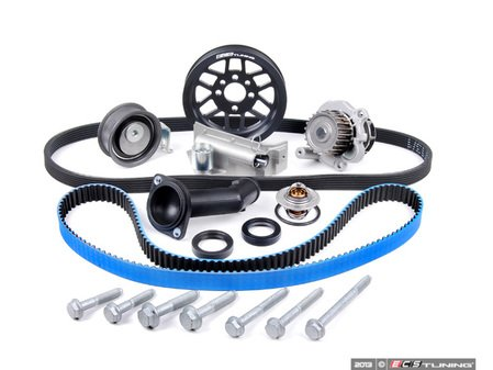 ES#5137 - 06B198479V2LW - Timing Belt Kit - Ultimate With Gates Racing Timing Belt & Performance Crank Pulley - The most complete kit on the market now includes our own lightweight crank pulley - Assembled By ECS - Audi Volkswagen