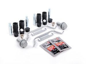 ES#2593740 - 34111163645KT1 - Front Pad And Rotor Installation Kit - Includes everything to install new front brakes including guide bolts and bushings - Assembled By ECS - BMW