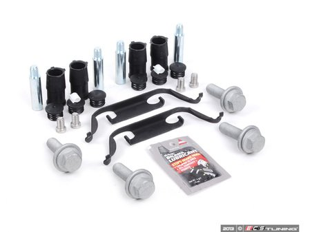 ES#2612260 - 34112229753KT - Front Pad And Rotor Installation Kit - Includes everything to install new front brakes including guide bolts and bushings - Assembled By ECS - BMW