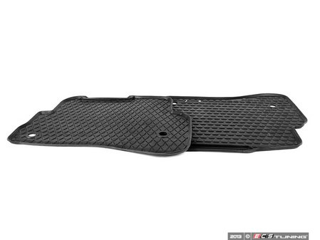 ES#337205 - 3B0061511041 - Rear All Weather Floor Mats - Black - Great looking & great performing mat for your Passat - Genuine Volkswagen Audi - Volkswagen