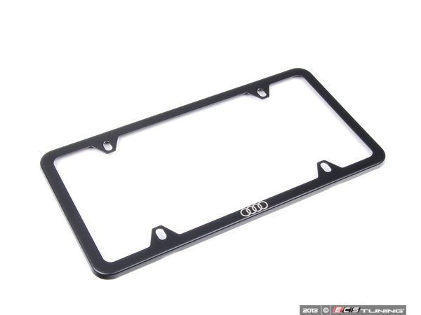 ES#2595479 - ZAW071801C - Audi Rings license plate frame - black - Trim out your license plate with a factory correct frame - Genuine Volkswagen Audi - Audi