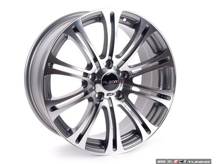 """ES#2143433 - 716-12 - 18"""" Style 716 Wheels - Staggered Set Of Four - 18x8"""" ET35/18x9"""" ET40 72.6CB 5x120. Gunmetal with machined face. - Alzor - BMW"""
