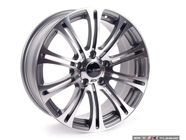 "ES#2143433 - 716-12 - 18"" Style 716 Wheels - Staggered Set Of Four - 18x8"" ET35/18x9"" ET40 72.6CB 5x120. Gunmetal with machined face. - Alzor - BMW"