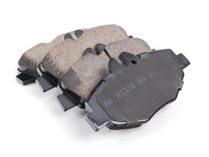 ES#2681140 - 0044208720 - Front Euro Ceramic Brake Pad Set - Includes new brake pad wear sensors - Akebono - Mercedes Benz