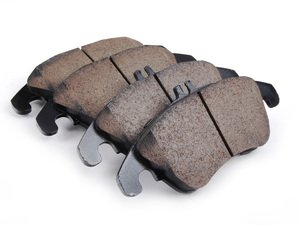 ES#2696183 - 0054201320 - Front Euro Ceramic Brake Pad Set - Includes new brake pad wear sensors - Akebono - Mercedes Benz