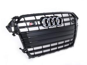 ES#2680872 - 8K0853651AFCKA - S4 Grille Assembly - Black with gloss black trim - Used in the 'Black Optics' package - Genuine Volkswagen Audi - Audi