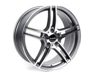 """ES#2535844 - 730-1KT - 19"""" Style 730 Wheels - Square Set Of Four - 19x8"""" ET35 72.6CB 5x120. Gunmetal with machined face. - Alzor - BMW"""