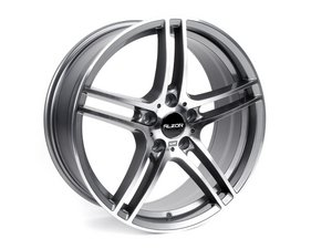 "ES#2535845 - 730-1KT2 - 19"" Style 730 Wheels - Staggered Set Of Four - 19x8""/19x9"" ET35 72.6CB 5x120. Gunmetal with machined face. - Alzor - BMW"