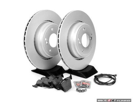 ES#252303 - e46erbk-ak - Rear Brake Service Kit - Featuring Meyle Rotors and Textar Pads - Assembled By ECS - BMW
