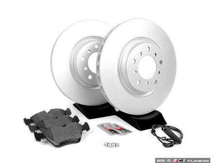 ES#252277 - E46EFBK-AK - Front Brake Service Kit - Featuring Meyle Rotors and Vaico Pads - Assembled By ECS - BMW
