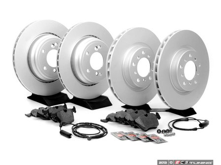 ES#2598527 - E46M3FRBRK-KT1 - Front & Rear Brake Service Kit - Featuring Zimmermann Rotors and Textar Pads - Assembled By ECS - BMW