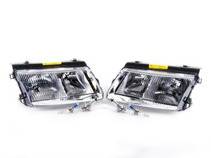 ES#488752 - 3B0998002 - European Halogen Headlight Set - Includes Fogs - Improve night time visibility with these European headlight housings - DJ Auto - Volkswagen