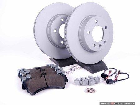 ES#2602246 - 95535140141FPKT - Performance Front Brake Service Kit - Featuring Zimmerman Z-Coated rotors and Hawk HPS brake pads - Assembled By ECS - Porsche
