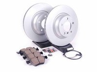 ES#2618418 - 34116854999KT3 - Front Brake Service Kit - Featuring Zimmermann coated rotors and Akebono Ceramic pads - Assembled By ECS - BMW