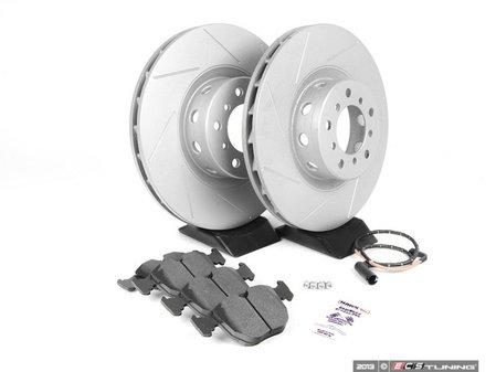 ES#240378 - ECSE393411-3 - Performance Front Brake Service Kit - Featuring ECS GEOMET slotted rotors and Hawk HPS pads - Assembled By ECS - BMW