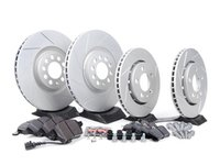 ES#2581487 - 1J0698202KT1 - Performance Front  Rear Brake Service Kit (312x25/256x22) - Featuring ECS GEOMETreg; slotted rotors and Hawk HPS pads. - Assembled By ECS - Volkswagen