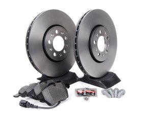 ES#257361 - 1J0698007 - Front Brake Service Kit (288x25) - Featuring Brembo rotors and Pagid brake pads. - Assembled By ECS - Volkswagen