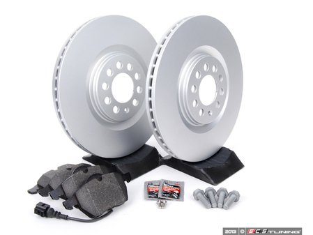 ES#257556 - 1J0698056 - Front Brake Service Kit (312x25) - Featuring Meyle rotors and Vaico pads. - Assembled By ECS - Volkswagen