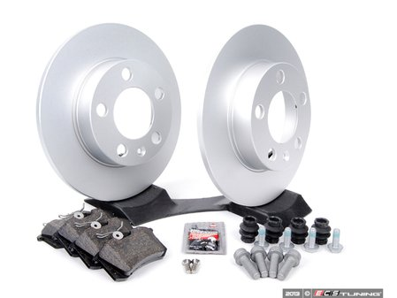 ES#257372 - 1J0698014 - Rear Brake Service Kit (232x9) - Featuring Meyle rotors and Vaico pads. - Assembled By ECS - Audi Volkswagen
