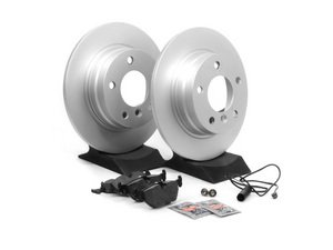 ES#2598592 - E36RPSR1-KT - Rear Brake Service Kit - Featuring Meyle Rotors and Brembo Pads - Assembled By ECS - BMW