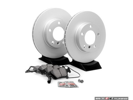 ES#1905575 - E36RPS2 - Front Brake Service Kit - Featuring Meyle rotors and Brembo pads - Assembled By ECS - BMW