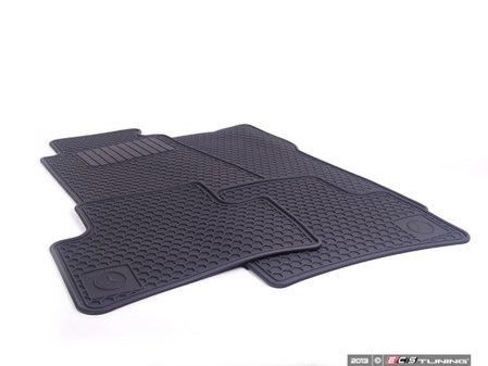 ES#1827669 - Q6680344 - All-Season Floor Mats - Set Of Four - Black - Genuine Mercedes Benz - Mercedes Benz