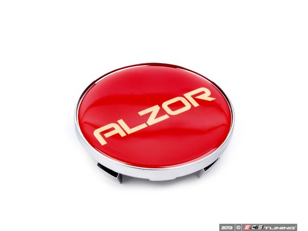 ES#2702739 - 2018CAP - Center Cap - Red/Chrome - Priced Each - Add a custom touch to your Alzor 881 wheels - Alzor - Audi BMW Volkswagen