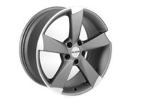 "ES#2207750 - 628-2 - 18"" Style 628 Wheels - Set Of Four  - 18""x8"" ET45 66.6CB 5x112 Gunmetal / Machined Face - Alzor - Audi"