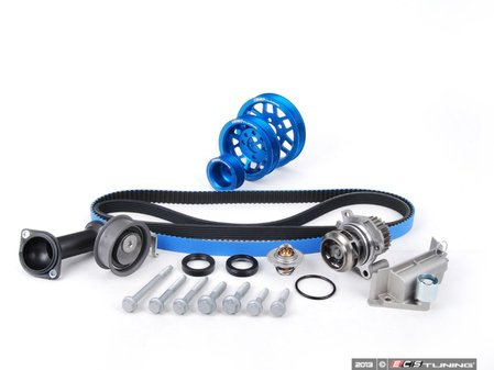 ES#5139 - 06B198479V2UDBLU - Timing Belt Kit - Ultimate With Gates Racing Timing Belt & Performance Pulley Set - Includes ECS Tuning's Lightweight Underdrive Pulley Kit in Blue. - Assembled By ECS - Audi Volkswagen
