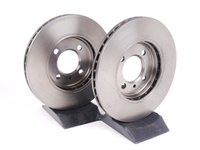ES#2136925 - 34111160915 - Front Brake Rotors - Pair (260x22) - From An Original Equipment Supplier - ATE -